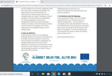 7 politiska förslag för hållbar fiskodling